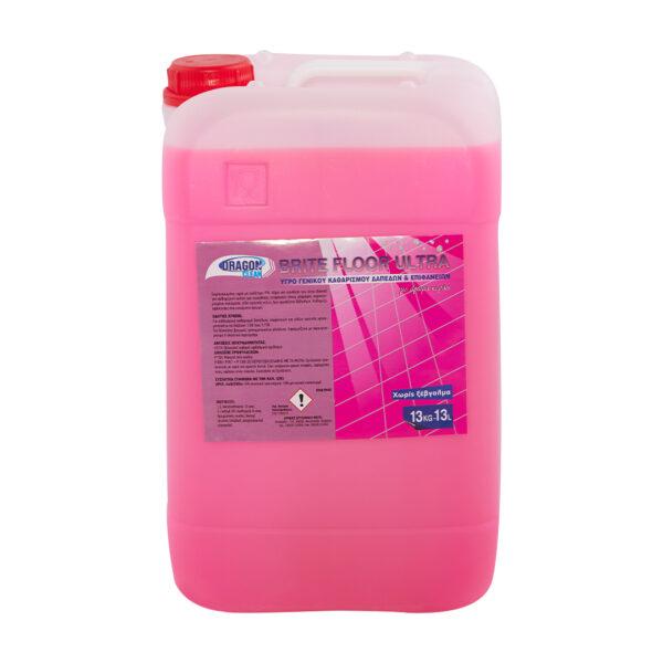 Υγρό γενικού καθαρισμού δαπέδων και επιφανειών Brite Floor Ultra άρωμα κεράσι,13L