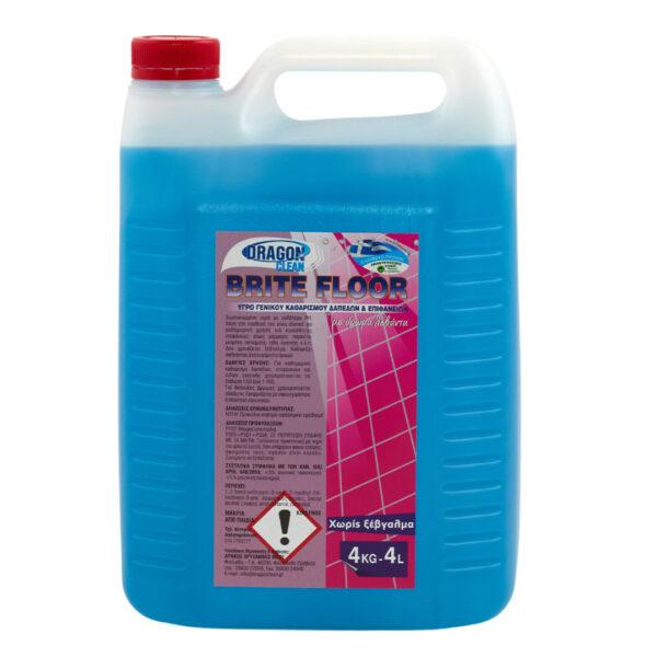 Υγρό γενικού καθαρισμού δαπέδων και επιφανειών Brite Floor, 4L, με άρωμα λεβάντα