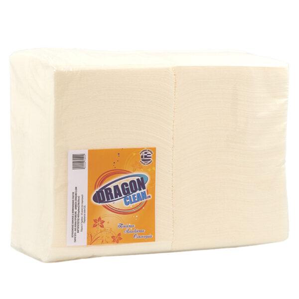 Χαρτοπετσέτες φαγητού 30Χ30 λευκές 400τμχ