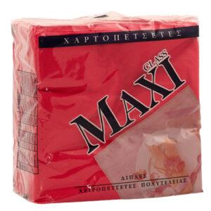 Χαρτοπετσέτες φαγητού πολυτελείας 33Χ33 Kόκκινες